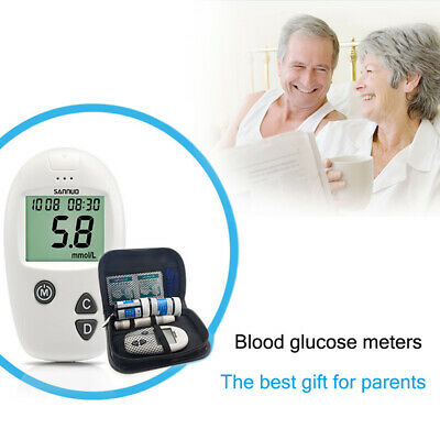 Portable  Blood Glucose Meter Glucometer Monitoring System Health Monitor Test