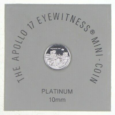 1973 Apollo 17 Eyewitness Platinum 10MM Mini Coin - The Franklin Mint *7303