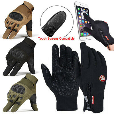 Men's Gloves Touch Screen Motorcycle Tactical Hard Knuckle Full Finger Gloves