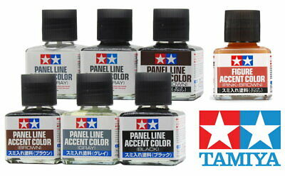 Tamiya 田宮 Panel Line Accent Color 87131~87201 40ml 87012 Glue 87038 Model Kit