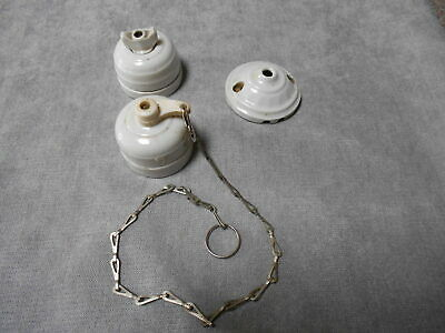 3 French vintage White PORCELAIN SWITCHES