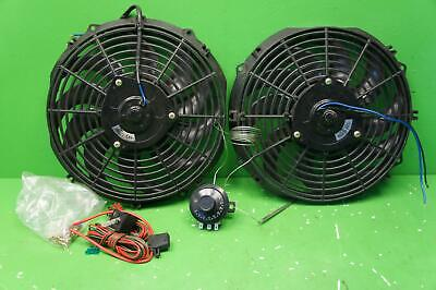 "Kenlowe 12 Volt Twin electric fan kit controller and fitting kit 16"" 22J01"