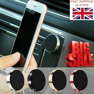 In Car Magnetic Phone Holder All Fits Dashboard Universal Mount Various Colours