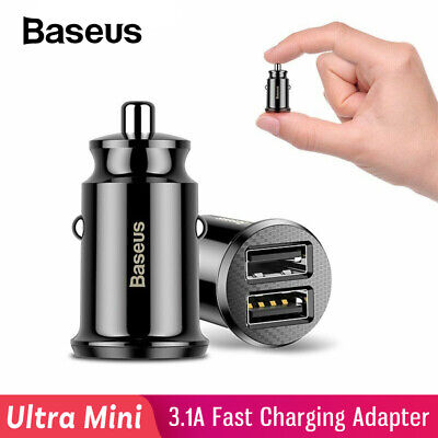 Baseus Dual USB Car Charger 3.1A Fast Charger Adapter for iPhone Samsung Xiaomi