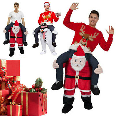 Carry Ride On Me Shoulder Piggy Back Fancy Adult Dress Party Outfit Xmas Costume