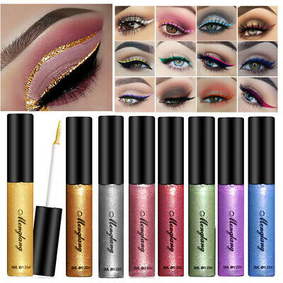 Durable Eye Makeup Smooth Colourful Pigment Liquid Eyeliner Glitter Eye Shadow