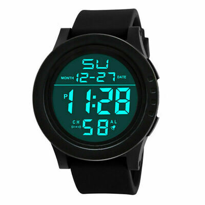 Digital Sport LED Watch Wrist Watches Flash Backlit Quartz Kids Boy Girls Unisex