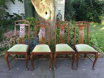 Set of 4 Antique Blackwood High Back Dining Chairs!