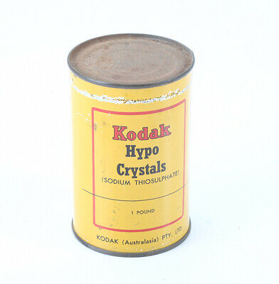 KODAK AUSTRALASIA HYPO CRYSTALS, ONE POUND CAN, SOLD FOR DISPLAY/cks/195001