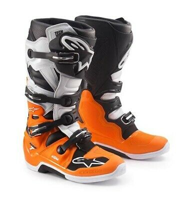 KTM Alpinestars Tech 7 White Orange Motocross Enduro Boot New