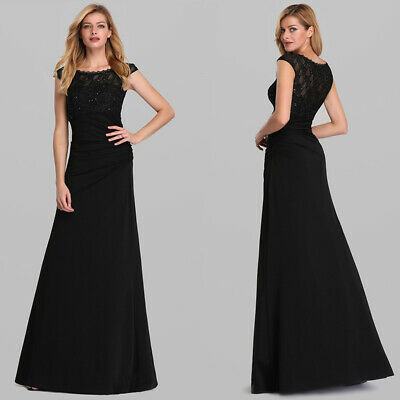 UK Ever-Pretty Lace Long Formal Prom Dresses Chiffon Celebrity Evening Ball Gown