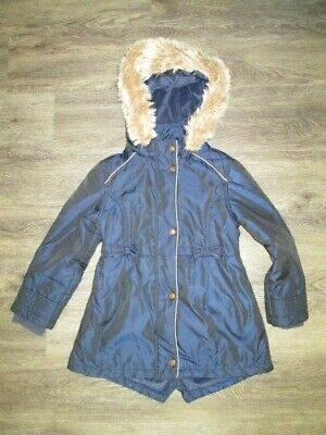 Girls Ted Baker Blue Hooded Coat Age 7 Yrs Lovely Cond