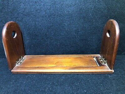 Antique Book Slide Mahogany - Extending Book Shelf