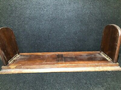 Antique Book Slide Mahogany Extending Book Shelf
