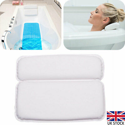 Comfort Bath Spa Pillow Cushioned Spongy Relaxing Bathtub Cushion Suction Cup