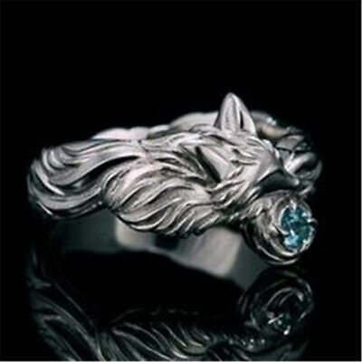 Fashion 925 Silver Aquamarine Ring Women Men Wedding Party Jewelry Size 6-10