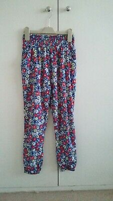 Girls flower trousers size 9 years great used condition