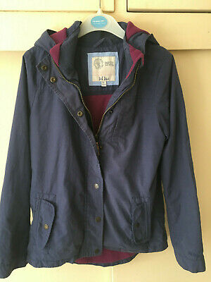 Fat Face ~ Navy Blue Hooded Jacket Coat ~ Fleece Lining ~ Age 11 - 12 Years