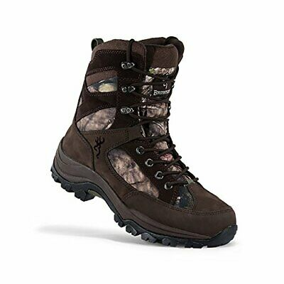 """Browning Buck Pursuit 8"""" Oxford Hunting Boots, Bracken/Mossy Oak Country Mens 12"""