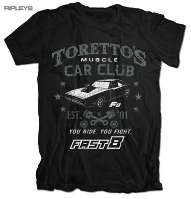 Officially Licensed Toretto/'s Muscle Car Club Zipped Hoodie S-XXL Sizes