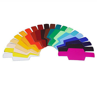 FLash/Speedlite/Speedlight Color Gels Filter 20pc w/Gels-Band kit  E LrDO
