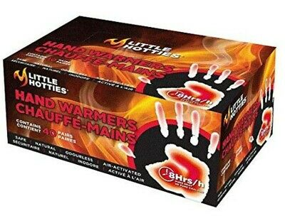 Little Hotties Hand Pocket Glove Warmers Winter Season Bulk Pack-40 Pairs, Black