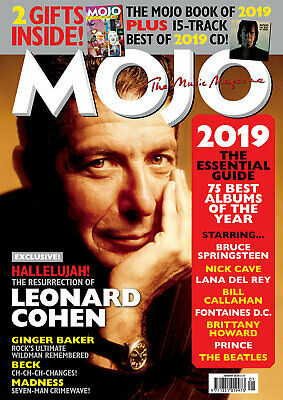 Mojo Magazine + Cd + Book January 2020 (Leonard Cohen, Ginger Baker, Beck) New