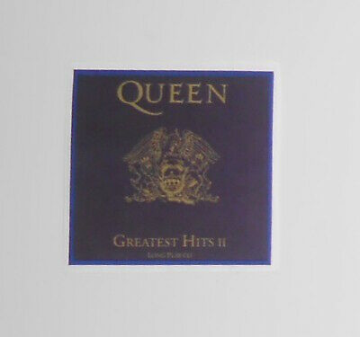 Queen Greatest Hits II Small Sticker (square) 1.5x1.5 Freddie Mercury