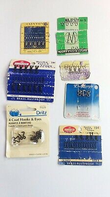 Lot of Assorted Hooks & Eyes Clinton Dritz Majesty & More SOLD AS IS