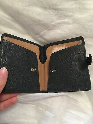 Original 1940s From 1948 Black Leather Wallet
