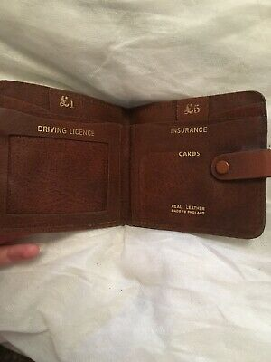 Original 1950s Brown Leather Wallet