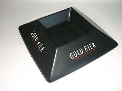 Gold Bier Ceramic Ashtray- Unused And Lovely.no Reserve Price.