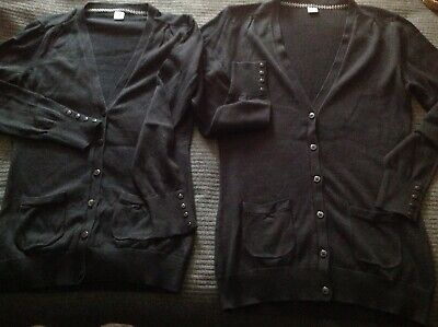 2 Tu Girls Black School Cardigans Age 14 Years Only Worn Once So Good Condition