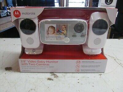"Motorola - MBP483-2 2.8"" Video Baby Infant Monitor w/ Two Cameras ( LOT 12263)"