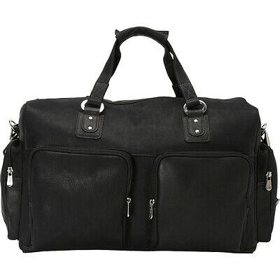 Piel Multi-Pocket Carry-On 3 Colors Travel Duffel NEW