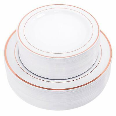 """Disposable Plastic Plates,30-10.25"""" Dinner Plates and 30-7.5"""" Plates Combo"""