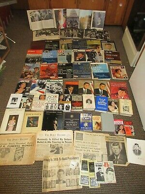 LOT John Bobby Kennedy Family Books Papers Newspaper President JFK Assassination