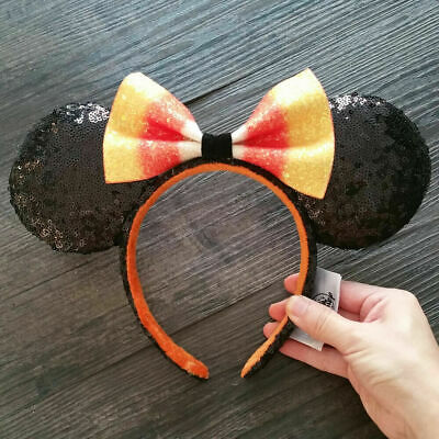 NEW Disney Parks 2019 Candy Corn Bow Minnie Mouse Ears Headband Hat