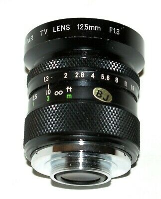 Computar lens 12.5mm f/1.3 C-mount for television & movie cameras