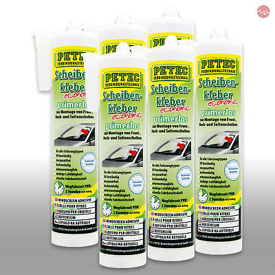 6x PETEC SCHEIBENKLEBER ECONOMIC KARTUSCHE 290 ML 84290