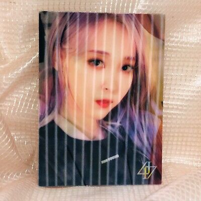Moonbyul Official Lenticular Photocard MaMaMoo 2nd Album Reality in Black HIP