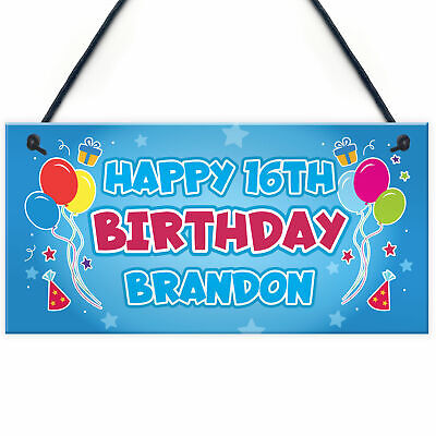 Personalised Birthday Banner Hanging Sign 16th 18th 21st 30th Party Decorations