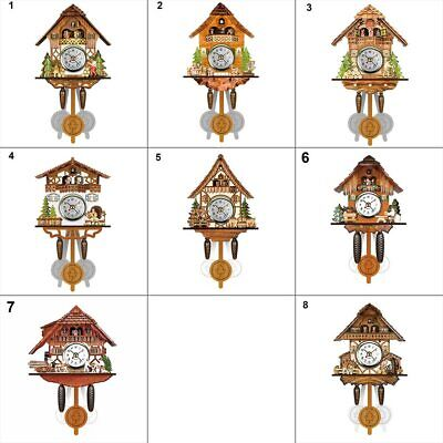 Wooden Antique Cuckoo Wall Clock Bird Time Bell Swing Alarm Watch Home Art Decor