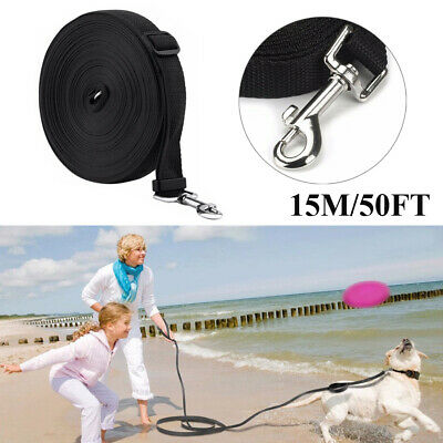 50ft / 15M Extra Long Dog Training Lead Strong Leash Large Recall Line Walking