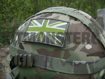 MTP Army stand in front troops patch Union Flag Subdued British Stand behind