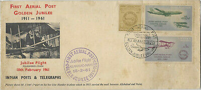 INDIA STAMP 1961 First Aerial Post Golden Jubilee First Day