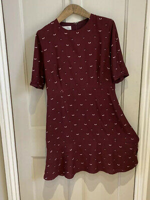 HOBBS Ladies Skater Style Dress Size 12 Vgc Festive Smart Casual Christmas Party