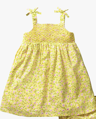 NEW RRP £12.00 Mini Boden Baby Flowery Dress and Knickers, Yellow Primrose (U25)