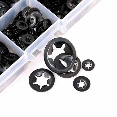 Mini Starlock Washers Push On Lock Grab Star Nut Fastener Clips Lock Set 9-25mm