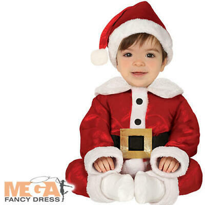 Santa Claus Baby Boys Costume Father Christmas Kids Toddlers Festive Costume